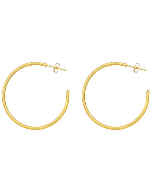 "Yossi Harari - Large 24k Yellow Gold ""jane"" Hoop Earrings - Lyst"