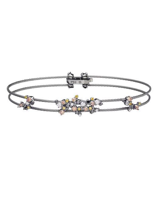"""Paul Morelli - Metallic Multicolored Diamond """"confetti"""" Wire Bracelet - Lyst"""