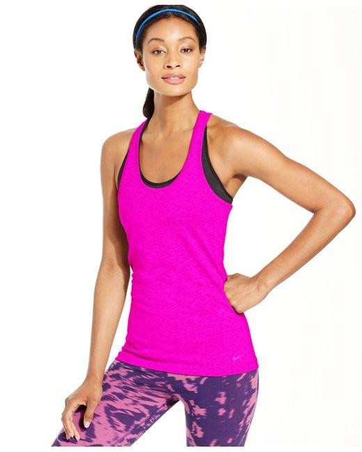 Nike | Pink Balance Racerback Tank Top | Lyst