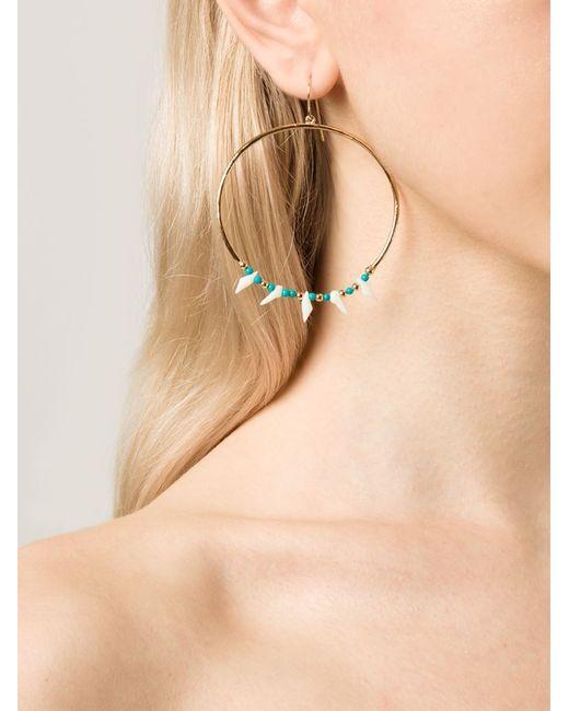 Aurelie Bidermann | Green 'surfing' Resin Bead Hoop Earrings | Lyst