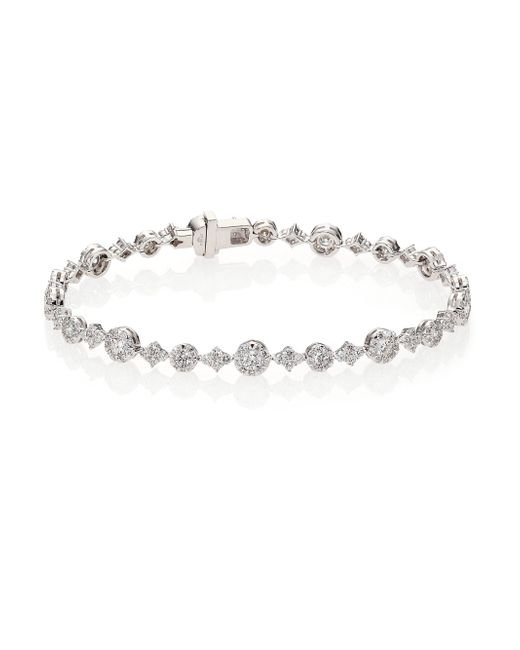Kwiat | Sunburst Diamond & 18k White Gold Tennis Bracelet | Lyst
