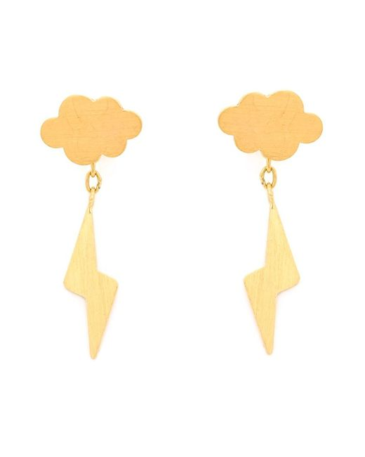 Marie-hélène De Taillac | Metallic 22kt Gold 'thunderstorm' Earrings | Lyst