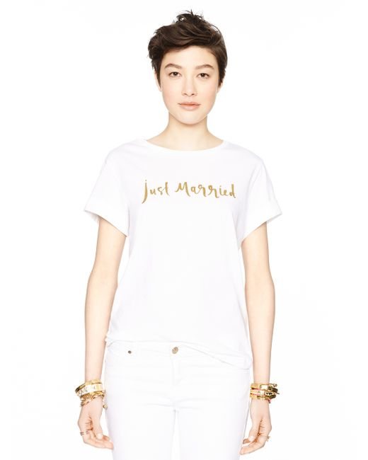 Kate Spade | White Just Married Tee | Lyst