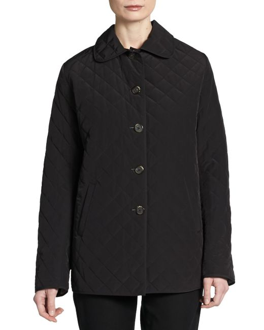 Jane Post   Black Quilted Button-front Jacket   Lyst