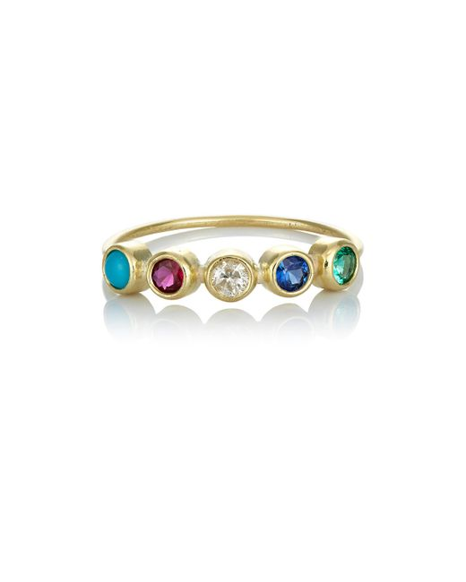 Jennifer Meyer | Metallic Bezel Ring | Lyst
