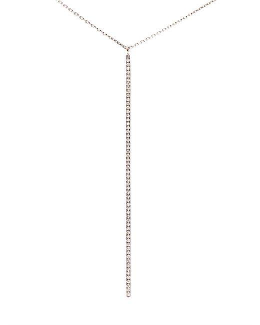 Diane Kordas | Metallic Rose Gold White Diamond Bar Necklace | Lyst
