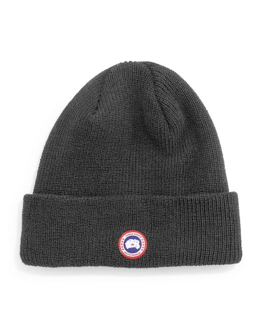 Canada Goose | Gray Merino Wool Knit Cap for Men | Lyst
