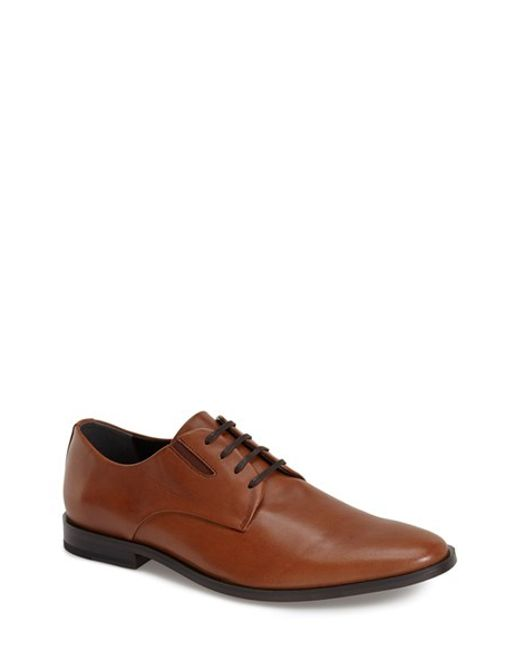 Calvin Klein | Brown 'naemon' Plain Toe Derby for Men | Lyst