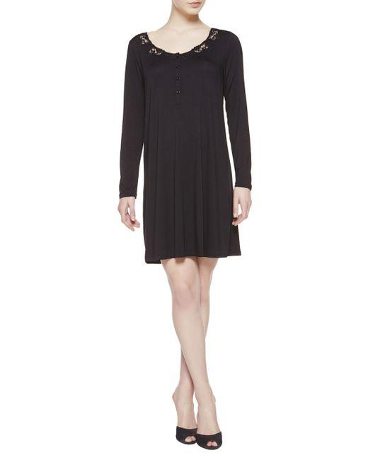 La Perla   Black Night Dress   Lyst