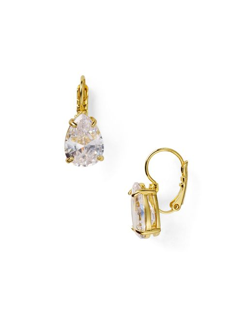 Kate Spade | Metallic Draped Jewels Pear Drop Earrings | Lyst