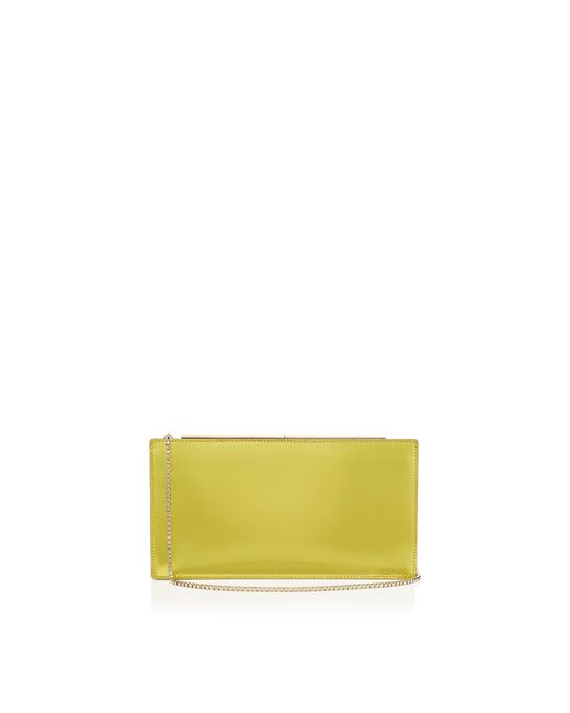 Jimmy Choo | Tux Acid Yellow Mirror Leather And Suede Clutch Bag | Lyst