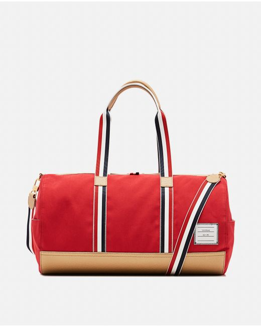 8d97620178af Lyst - Thom Browne Red Gym Duffle Bag in Red for Men - Save 1%