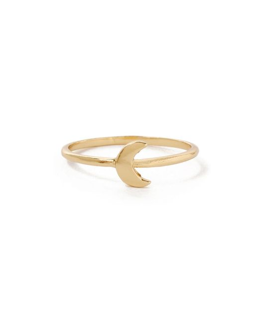 Bing Bang | Metallic Little Moon Ring | Lyst
