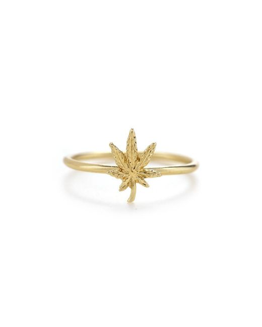Bing Bang | Yellow Mary Jane Ring | Lyst