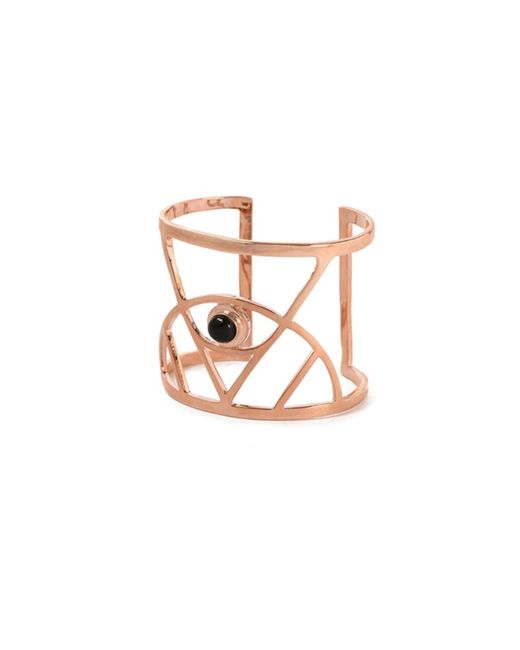 Bing Bang | Pink Illuminated Eye Cuff With Gemstone | Lyst