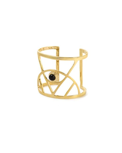Bing Bang | Yellow Illuminated Eye Gemstone Cuff | Lyst