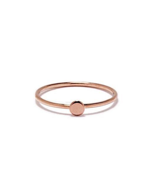 Bing Bang | Pink Tiny Circle Ring | Lyst