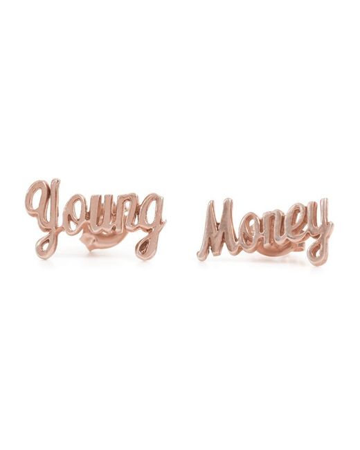 Bing Bang | Pink Young Money Studs | Lyst