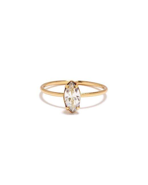 Bing Bang - Yellow Tiny Marquis Ring - Lyst