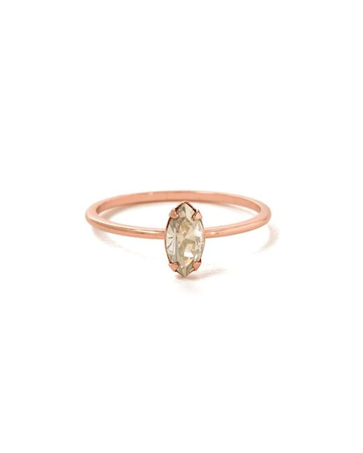 Bing Bang - Pink Tiny Marquis Ring - Lyst