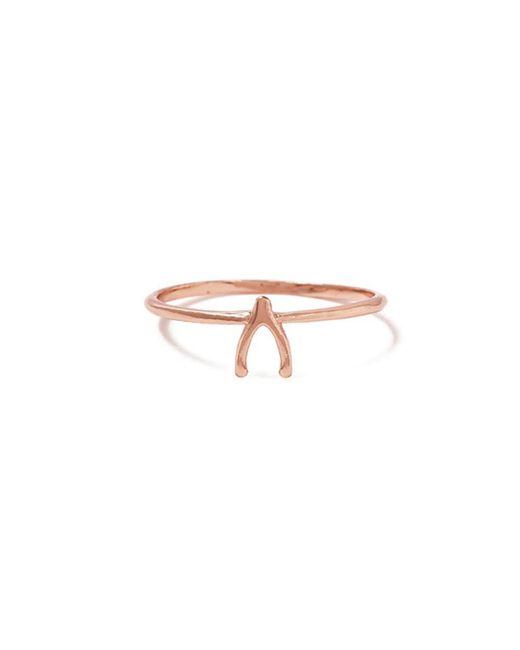 Bing Bang - Pink Wishbone Ring - Lyst
