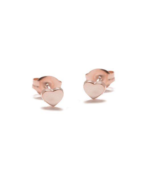 Bing Bang - Pink Baby Heart Studs - Lyst