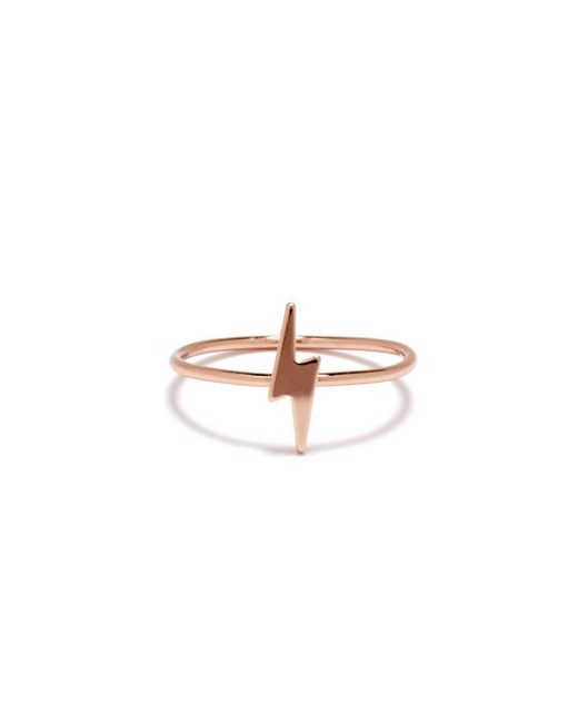 Bing Bang | Pink Lightning Bolt Ring | Lyst