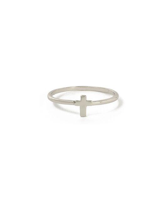 Bing Bang   Metallic Tiny Cross Ring   Lyst