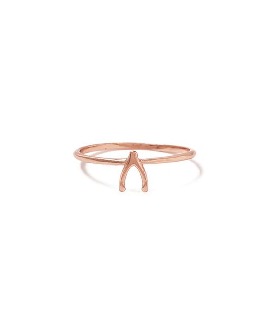 Bing Bang | Pink Wishbone Ring | Lyst