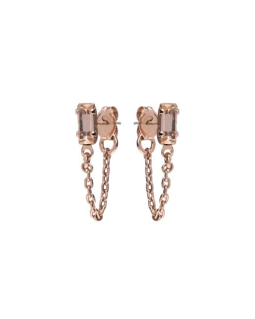 Bing Bang - Pink Baguette Continuous Earrings - Lyst