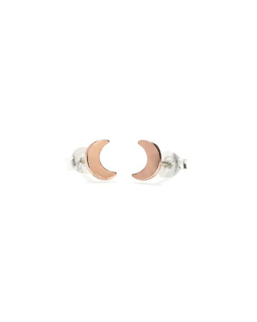 Bing Bang | Pink Little Moon Studs | Lyst