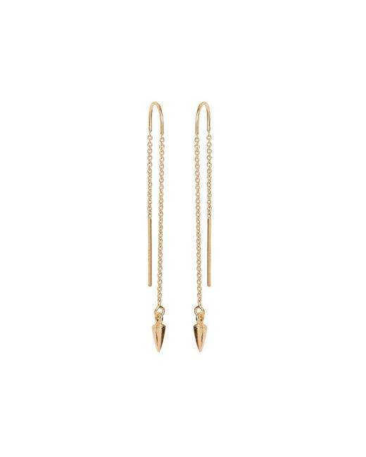 Bing Bang | Metallic Bullet Threader Earrings | Lyst