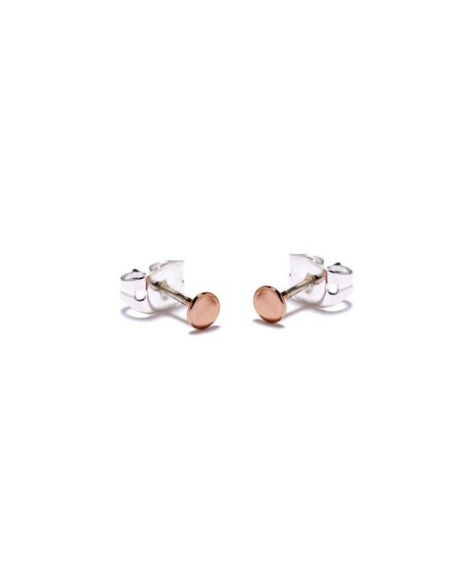 Bing Bang | Pink Tiny Circle Studs | Lyst