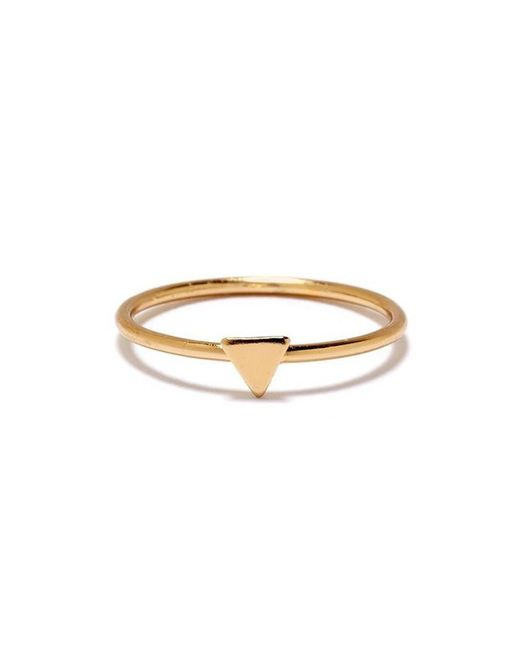 Bing Bang - Yellow Tiny Triangle Ring - Lyst