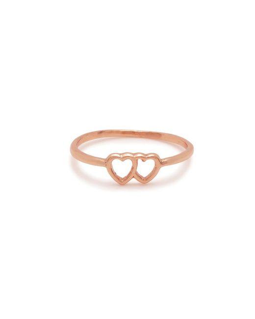 Bing Bang - Pink Tiny Loved Up Ring - Lyst