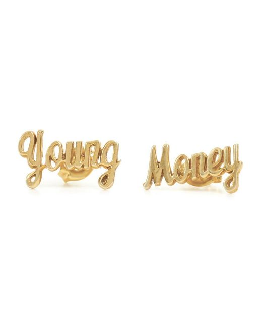 Bing Bang - Metallic Young Money Studs - Lyst