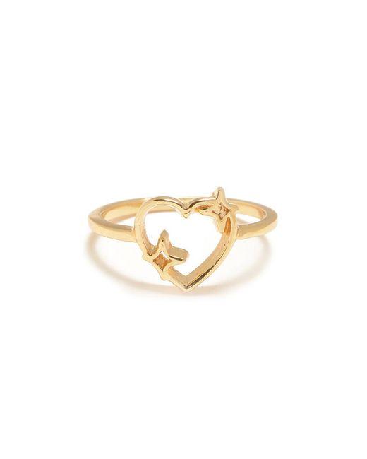Bing Bang - Metallic Sparkle Heart Ring - Lyst