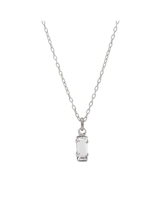 Bing Bang - Metallic Tiny Baguette Necklace - Lyst