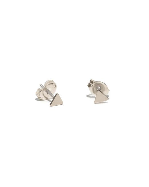 Bing Bang - Metallic Tiny Triangle Studs - Lyst