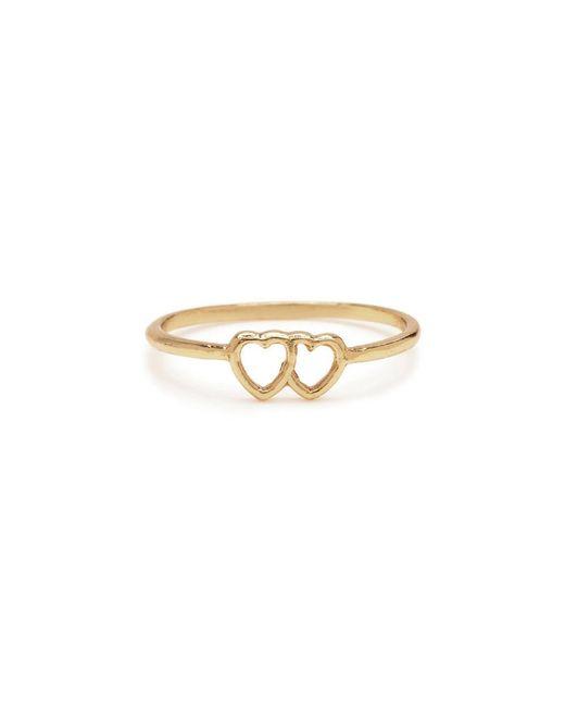 Bing Bang - Metallic Tiny Loved Up Ring - Lyst