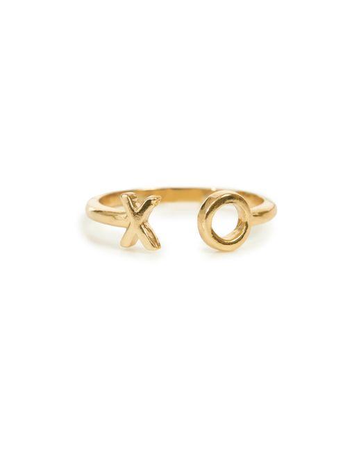Bing Bang | Metallic Xo Open Ring | Lyst