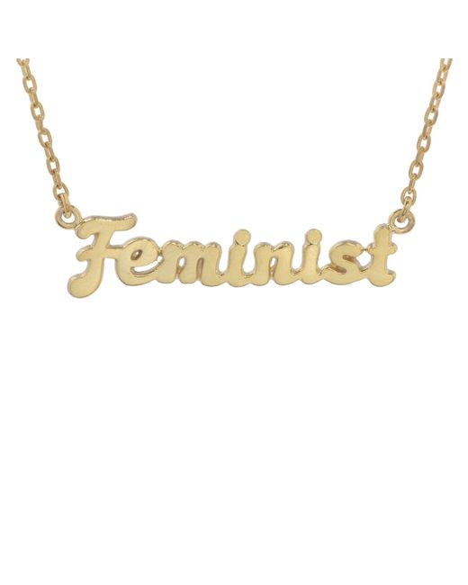 Bing Bang - Metallic Feminist Necklace (bb X Me & You) - Lyst
