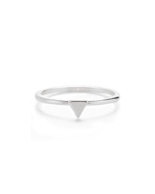 Bing Bang - Metallic Tiny Triangle Ring - Lyst