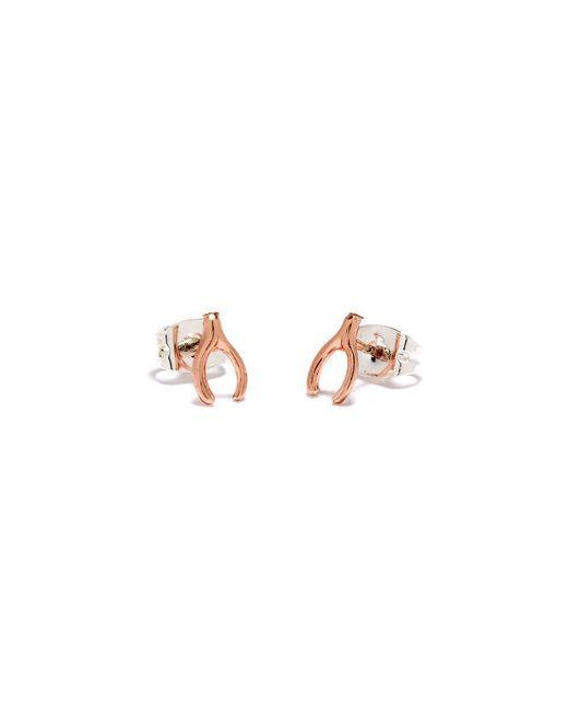 Bing Bang | Pink Wishbone Studs | Lyst