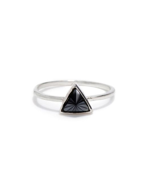 Bing Bang | Metallic Delta Bezel Ring | Lyst