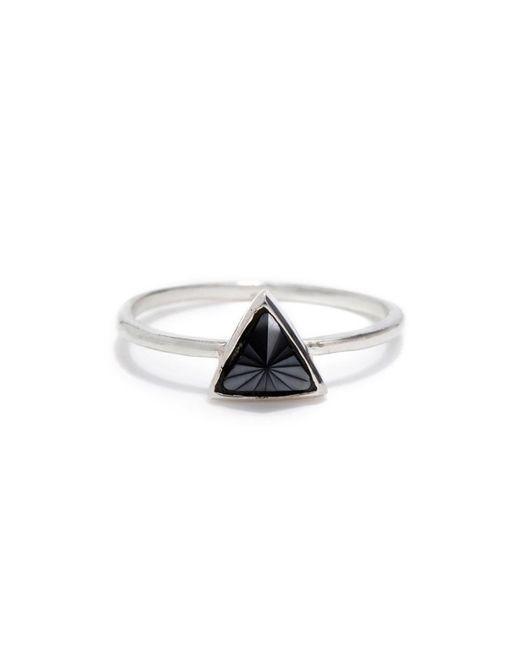 Bing Bang | Metallic Delta Bezel Ring | Lyst