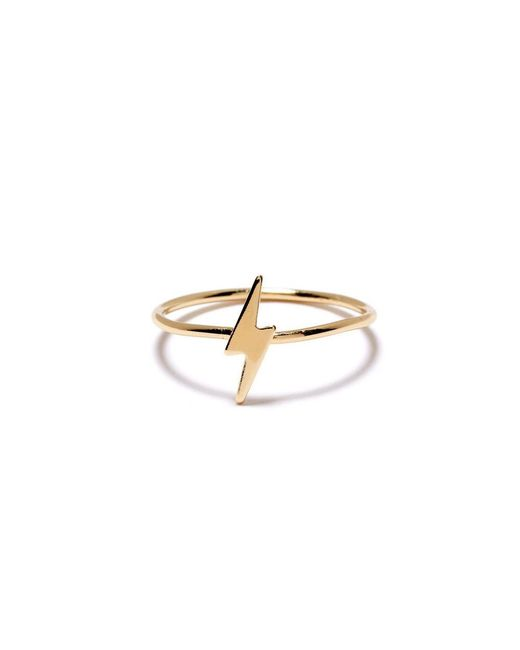 Bing Bang | Yellow Lightning Bolt Ring | Lyst