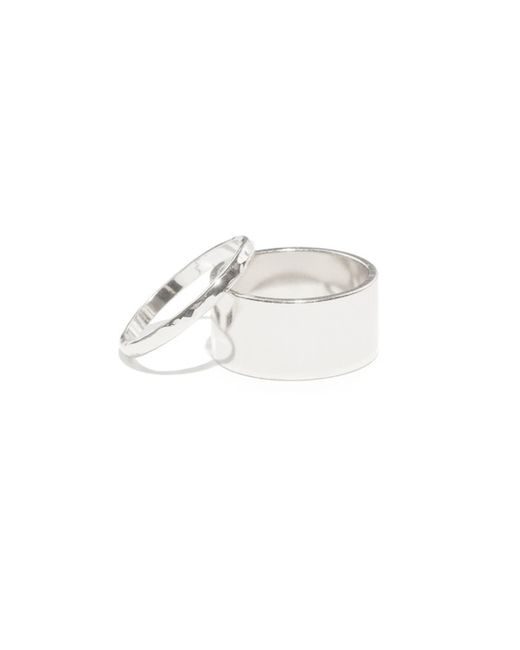 Bing Bang | White Cigar Hammered Band Set | Lyst