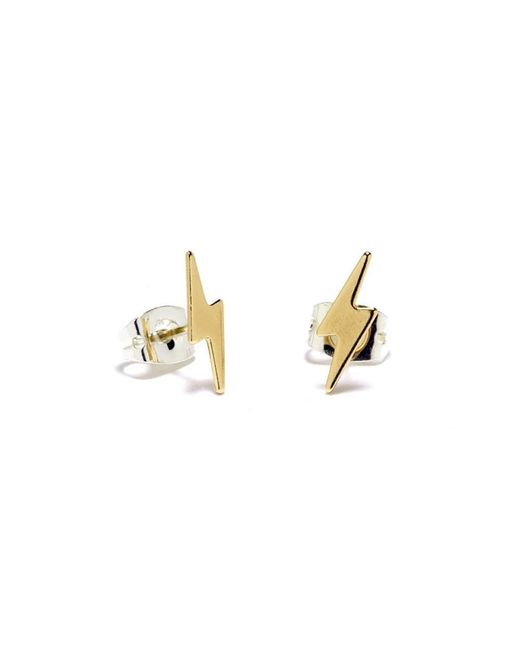 Bing Bang - Yellow Lightning Bolt Studs - Lyst