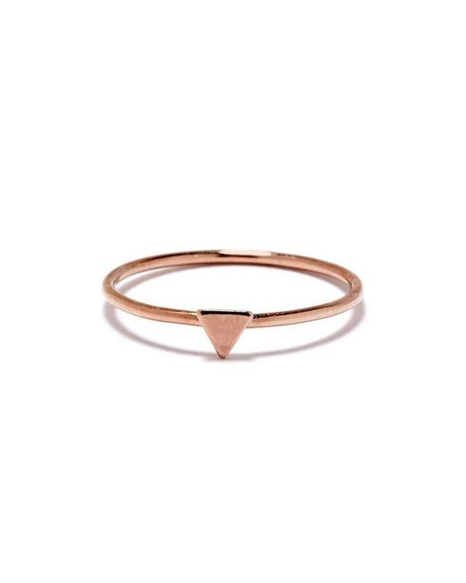 Bing Bang - Pink Tiny Triangle Ring - Lyst
